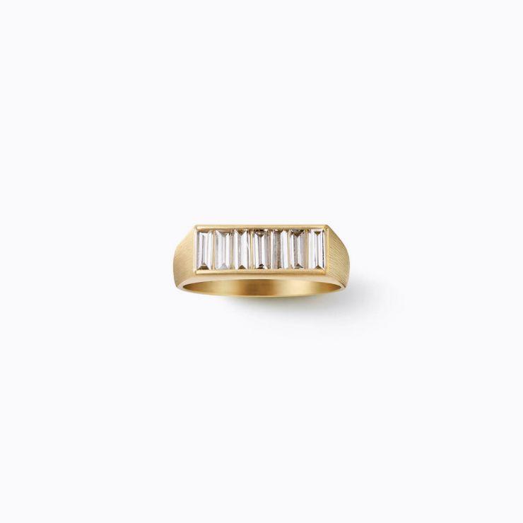 Baguette  Diamond Signet Ring
