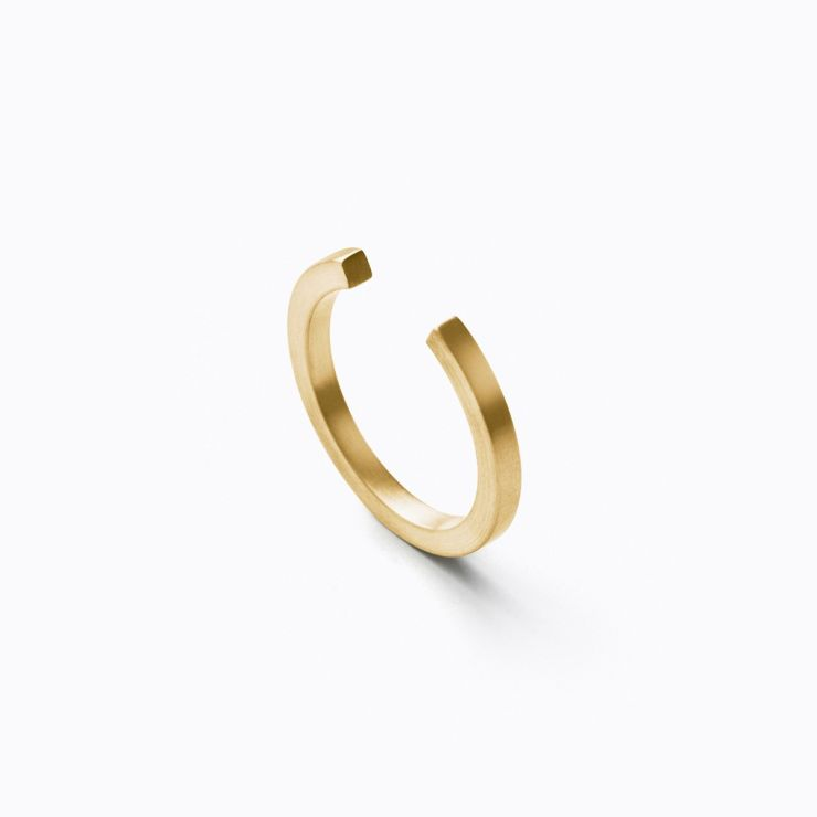 Assemble Ring 01, yellow gold, matte finish