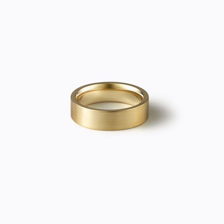 Flat Ring 4.5, yellow gold, matte finish