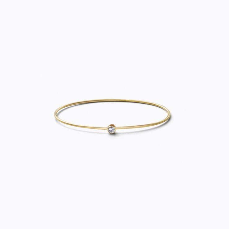 One-Stone Hoop Bracelet