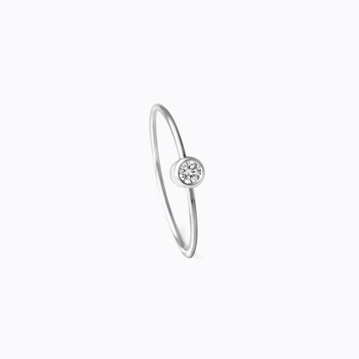 One-Stone Hoop Earring 02