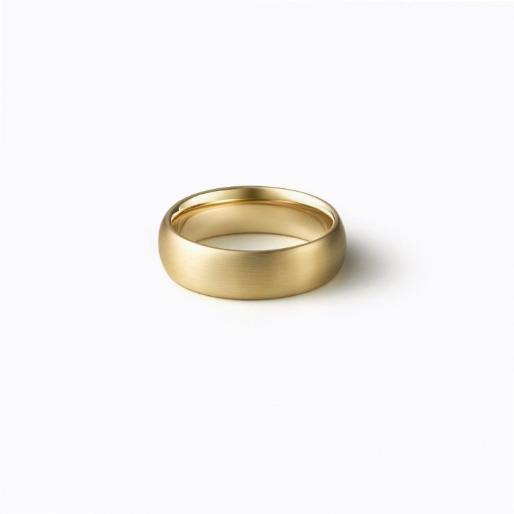 Oval Ring 4.5, yellow gold, matte finish