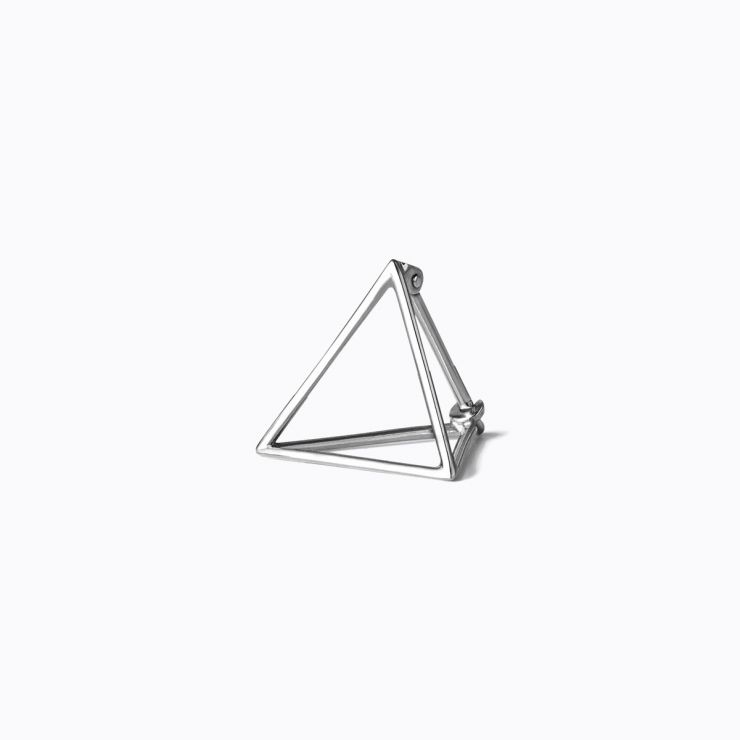 3D Triangle 15, white gold, matte finish