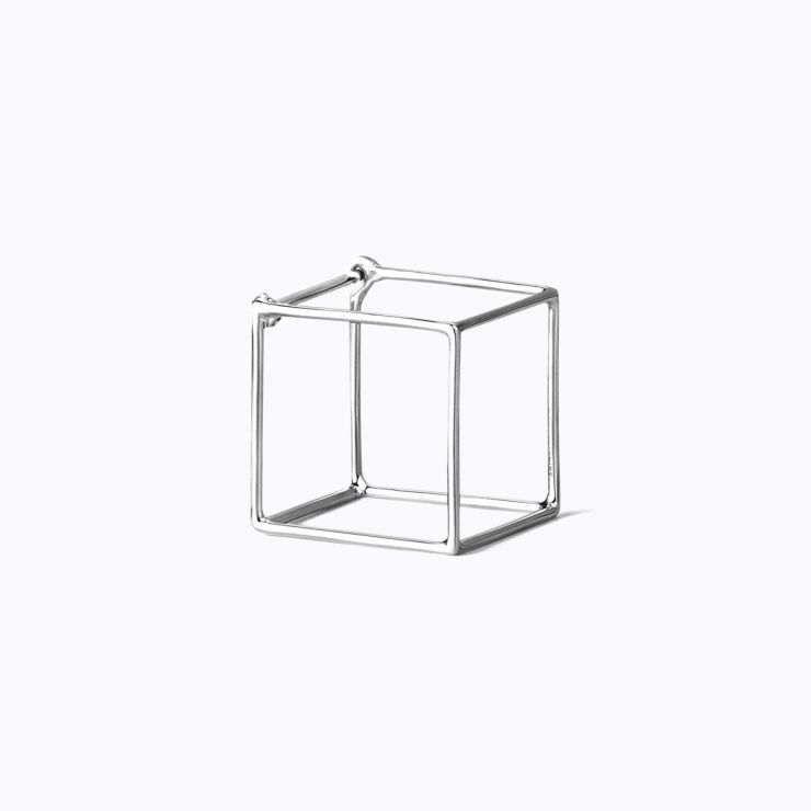 3D Square 15, white gold
