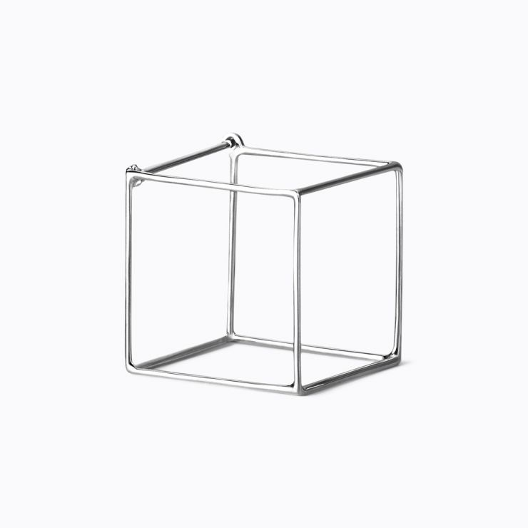 3D Square 20, white gold