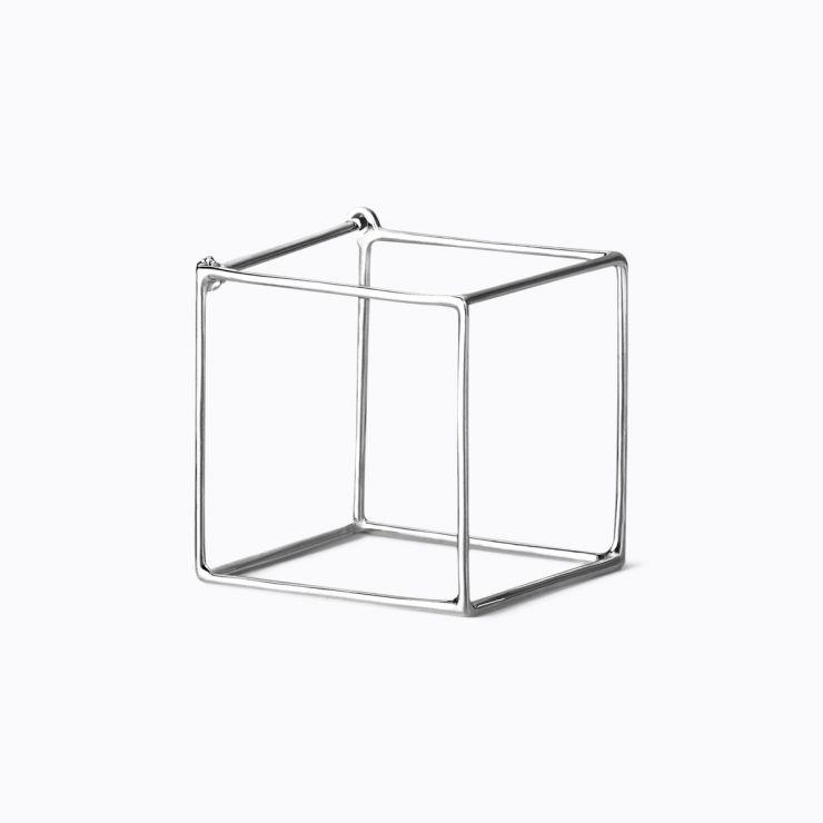 3D Square 20, white gold