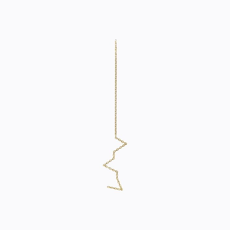 Chain Earring 01, yellow gold