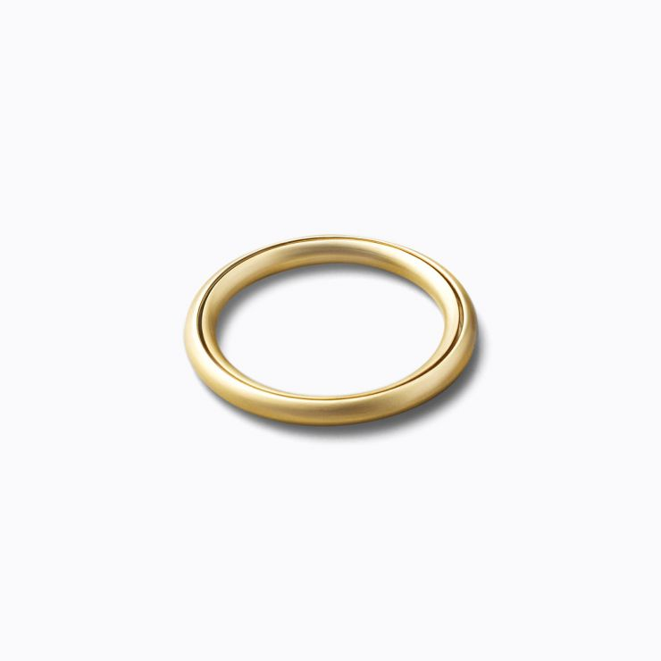 Angle Ring 0°, yellow gold, matte finish
