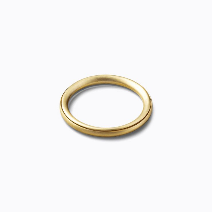 Angle Ring 45°, yellow gold, matte finish