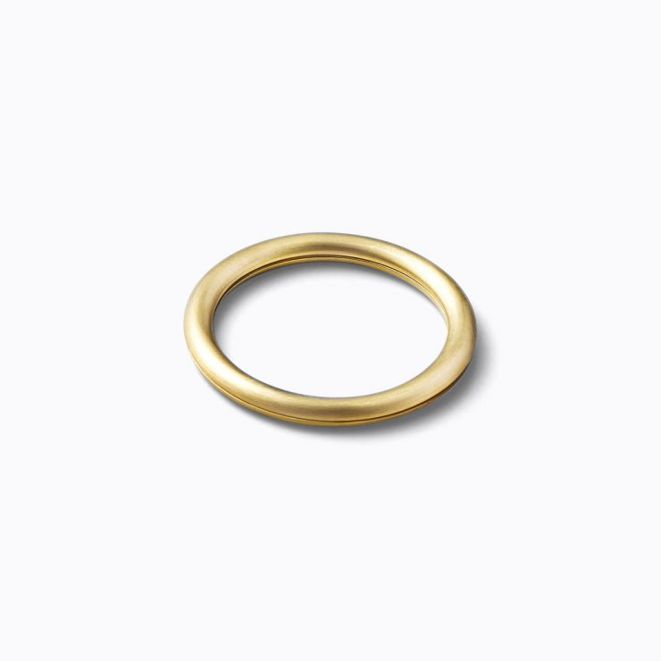 Angle Ring 90°, yellow gold, matte finish