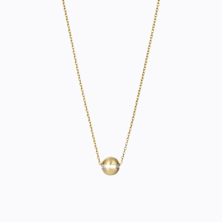 Center Pearl Necklace 0°, yellow gold