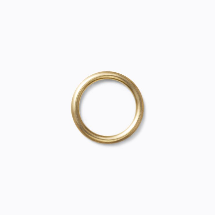 Line Ring 2.5, yellow gold (matte finish)