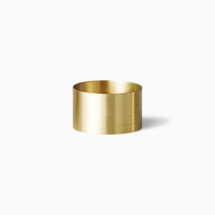 Plate Ring 10.0, yellow gold (matte finish)