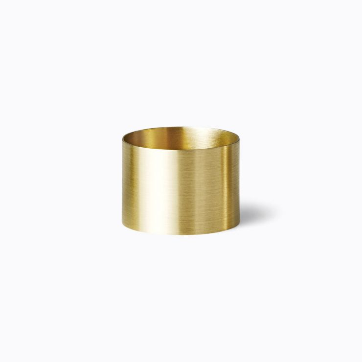 Plate Ring 12.5, yellow gold (matte finish)