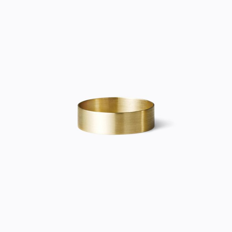Plate Ring 5.0, yellow gold (matte finish)