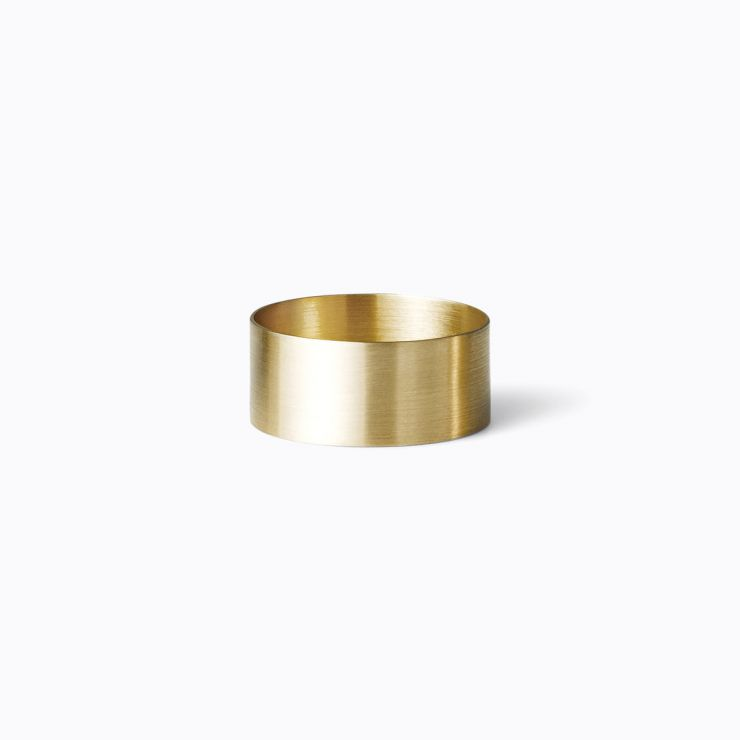 Plate Ring 7.5, yellow gold (matte finish)