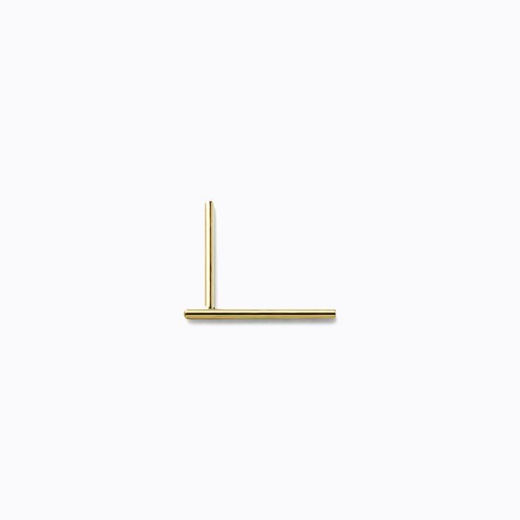 Post Earring 0101, yellow gold