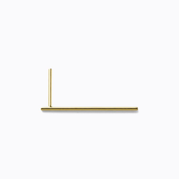 Post Earring 0102, yellow gold