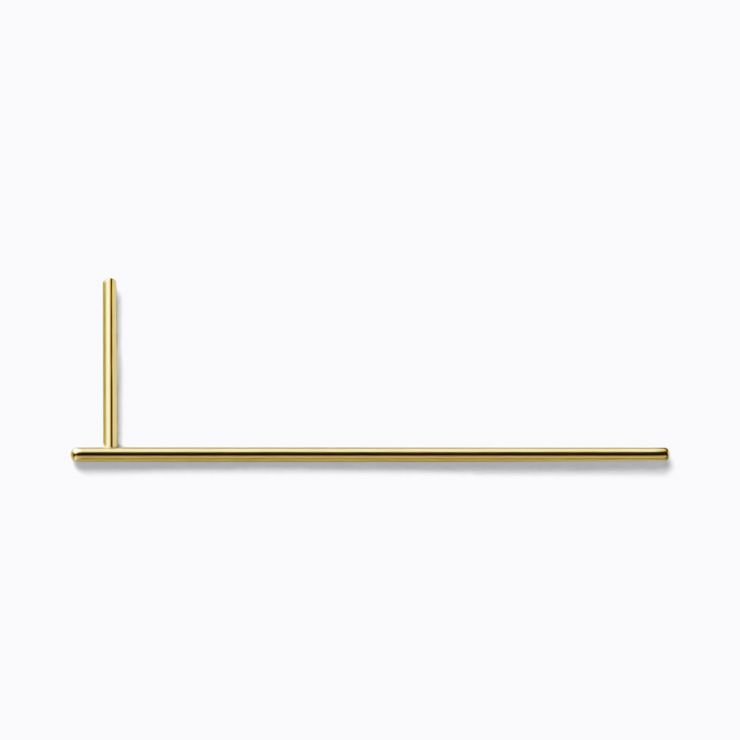 Post Earring 0103, yellow gold