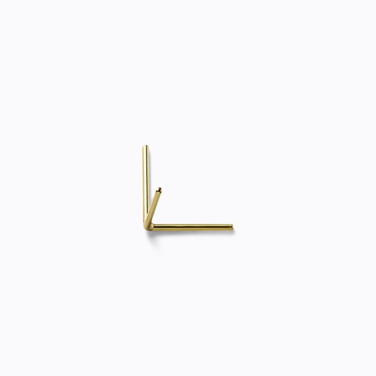 Post Earring 0202, yellow gold