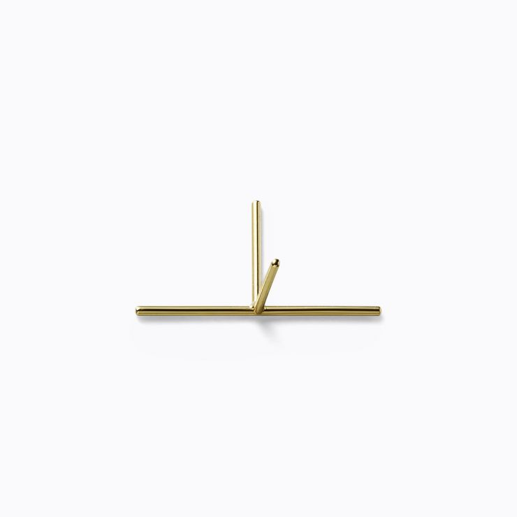 Post Earring 0203, yellow gold