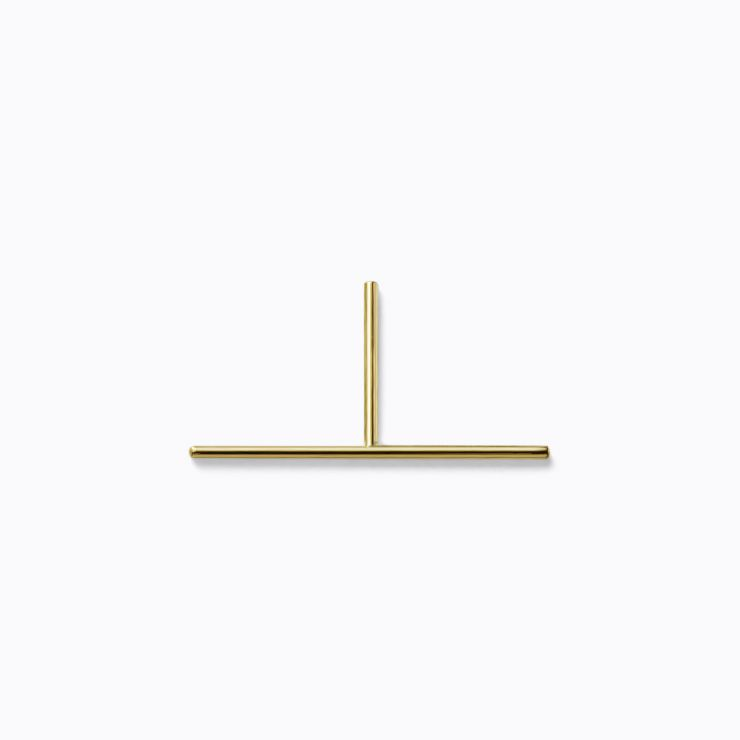 Post Earring 0301, yellow gold