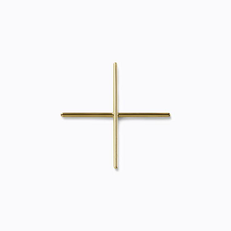 Post Earring 0302, yellow gold