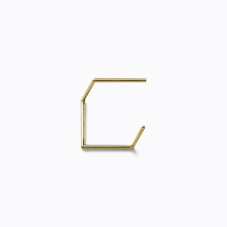 Post Earring 0403, yellow gold