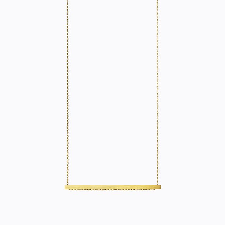 Bar Necklace 01, yellow gold, matte finish