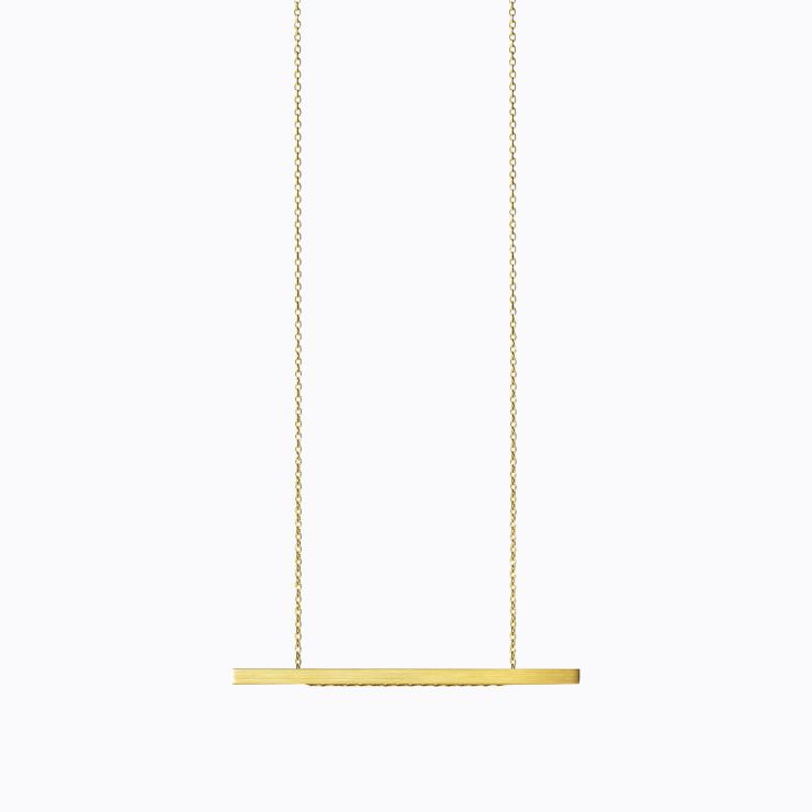 Bar Necklace 02, yellow gold, matte finish