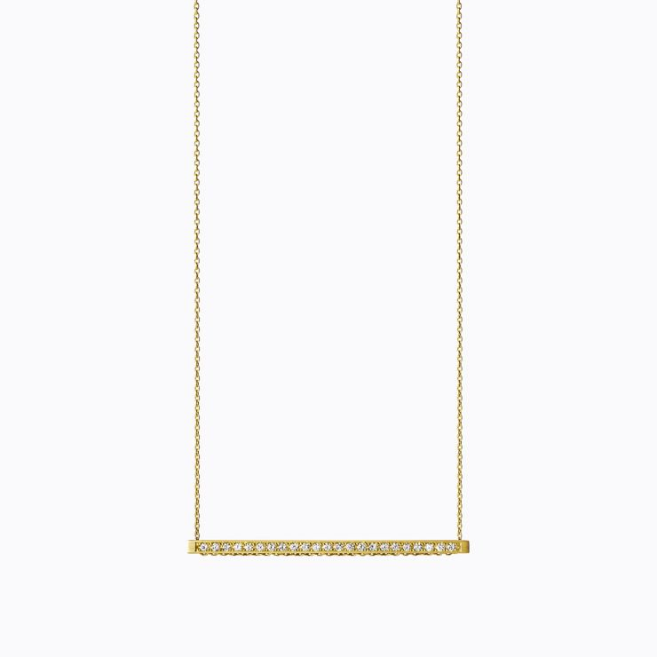 Bar Necklace 04, yellow gold, polished finish