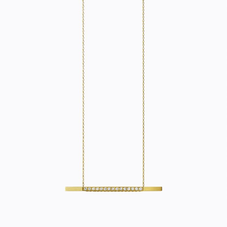 Bar Necklace 05, yellow gold, polished finish