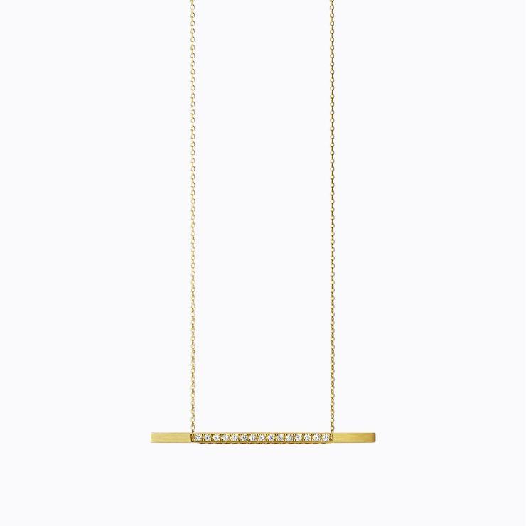 Bar Necklace 05, yellow gold, polished finish