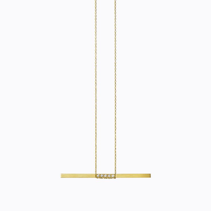 Bar Necklace 06, yellow gold, polished finish