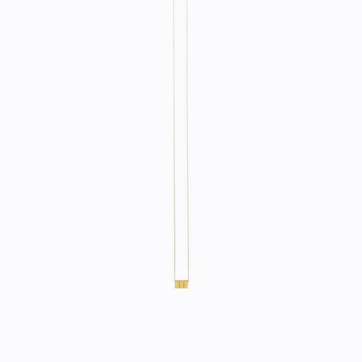 Cube Necklace 02, yellow gold, matte finish