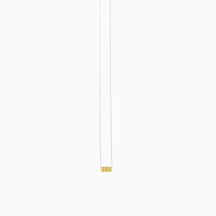Cube Necklace 03, yellow gold, matte finish