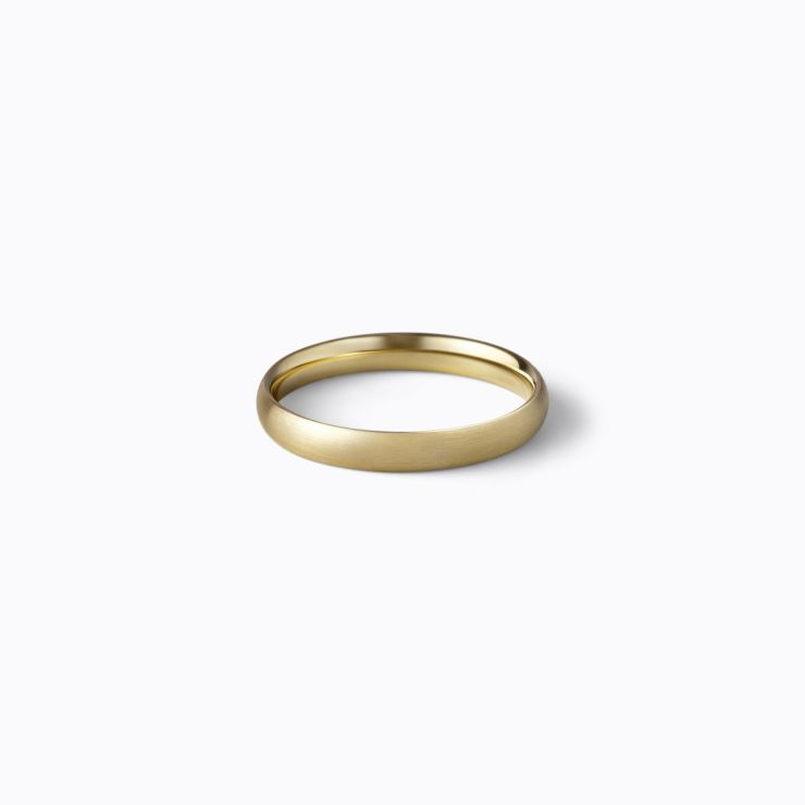 Oval Ring 3.0, yellow gold, matte finish