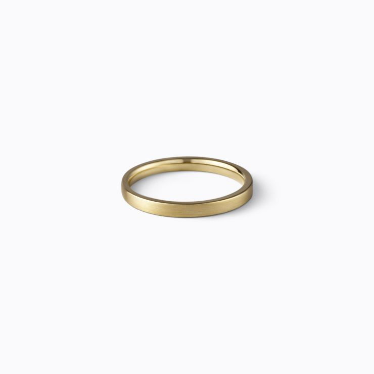 Flat Ring 2.0, yellow gold, matte finish