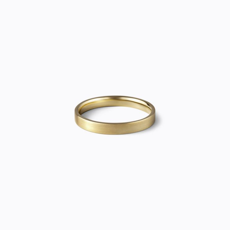 Flat Ring 3.0, yellow gold, matte finish