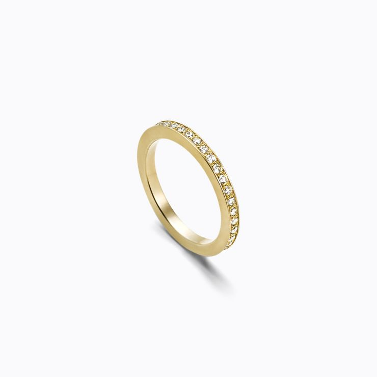 Full Eternity Ring 01 Outside, yellow gold, matte finish
