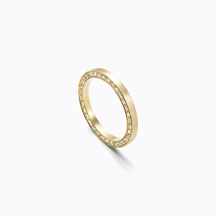 Full Eternity Ring 01 Side, yellow gold, matte finish