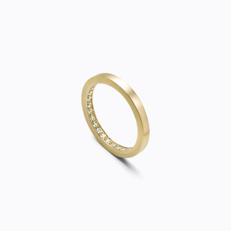 Full Eternity Ring 01 Inside, yellow gold, matte finish