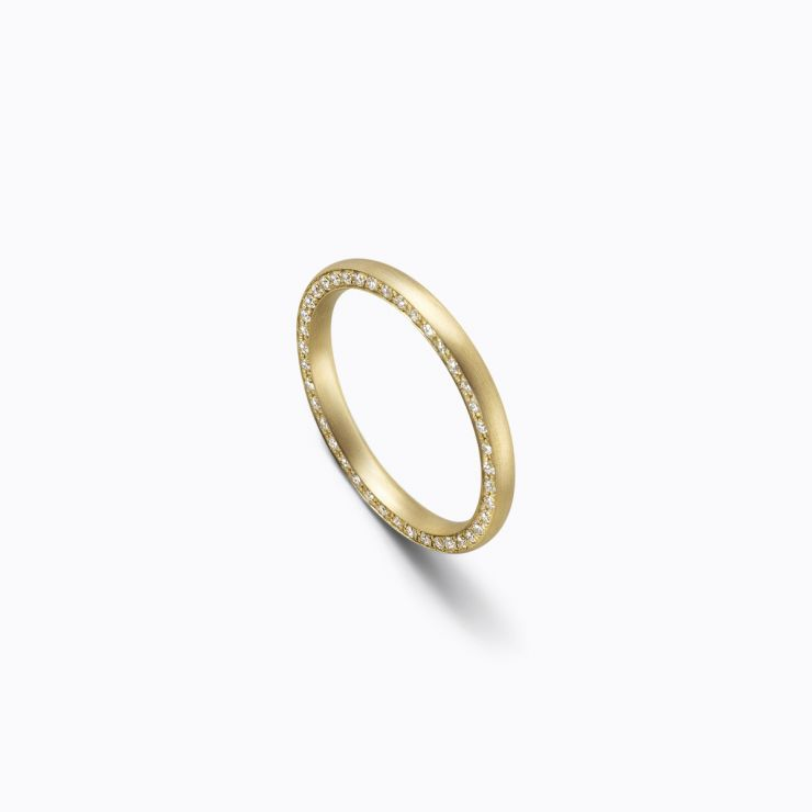 Full Eternity Ring 02 Side, yellow gold, matte finish