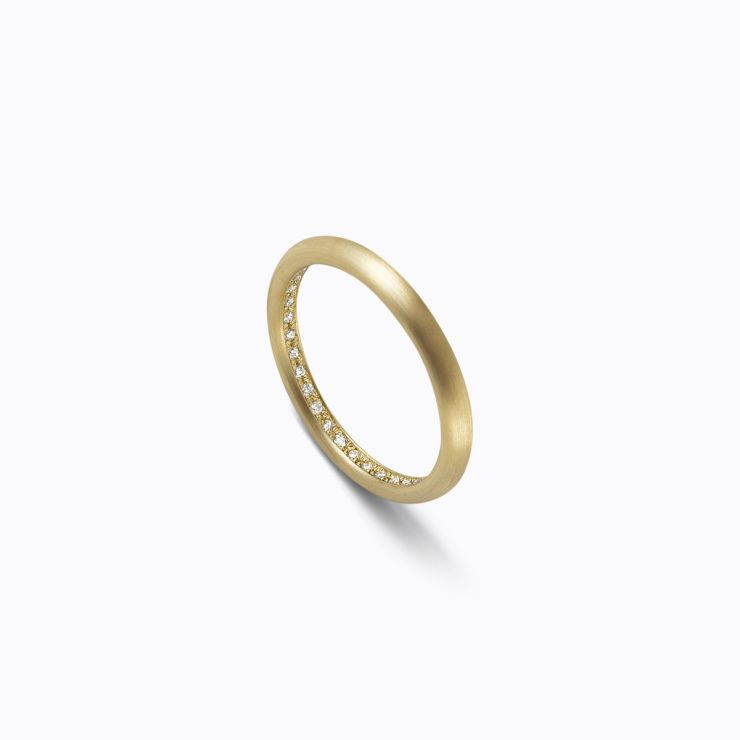 Full Eternity Ring 02 Inside, yellow gold, matte finish