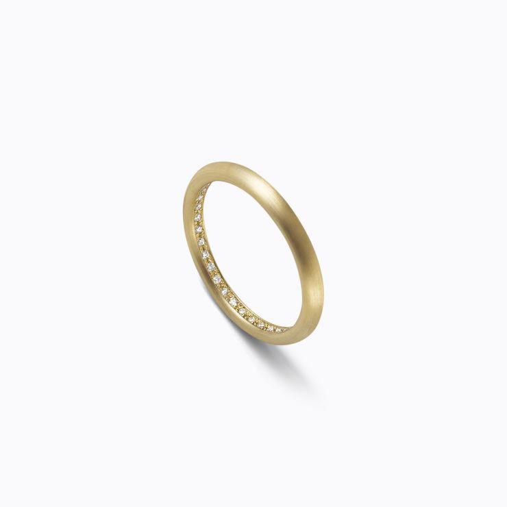 Full Eternity Ring 02 Inside, yellow gold, matte finish