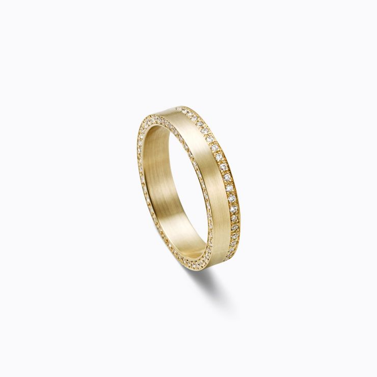 Trine Ring 04, yellow gold, matte finish