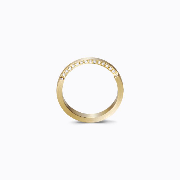 Assemble Ring 02, yellow gold, matte finish