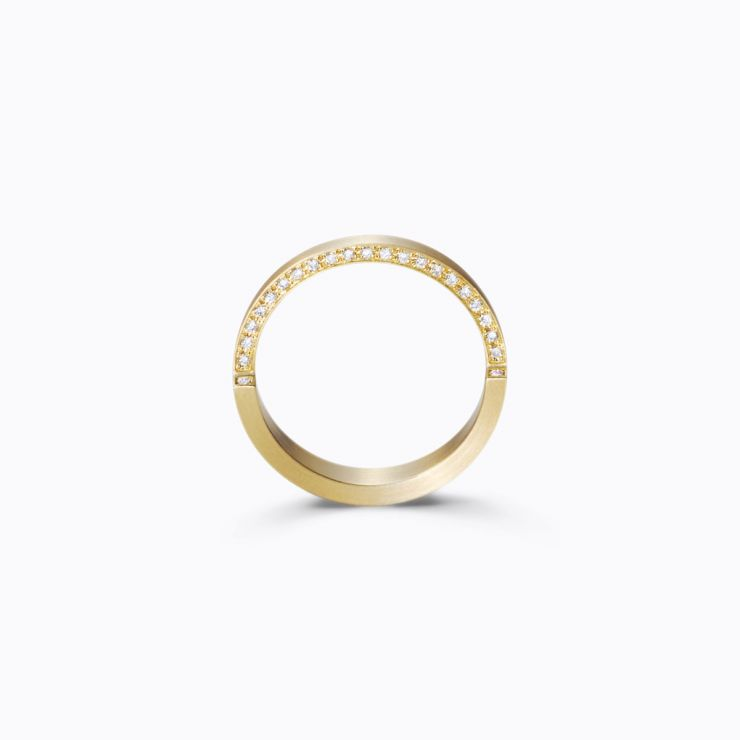 Assemble Ring 03, yellow gold, matte finish