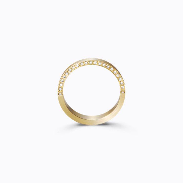 Assemble Ring 03, yellow gold, matte finish