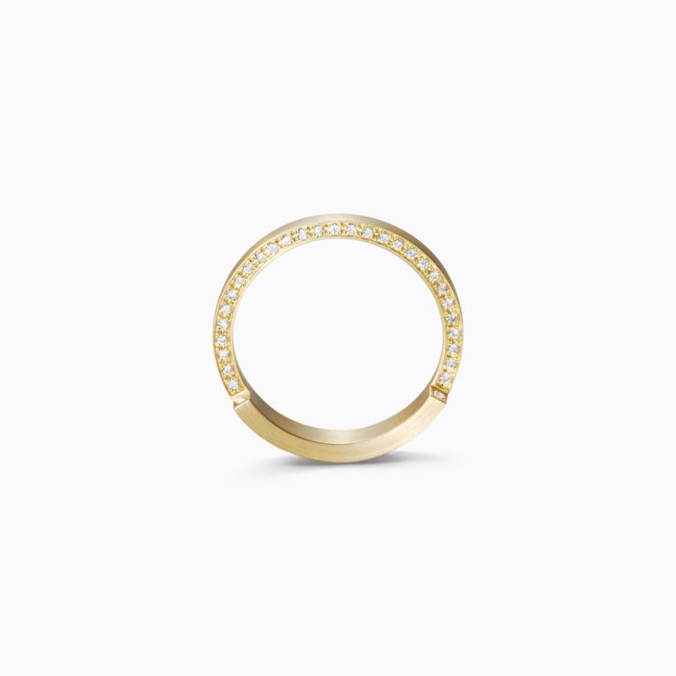 Assemble Ring 04, yellow gold, matte finish